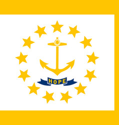 flag of the usa state of rhode island vector image