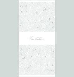 floral vertical invitation card vector image