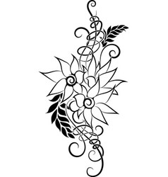flower tattoo 6 vector image