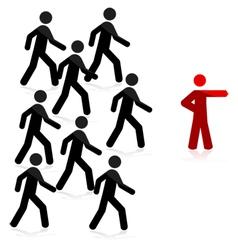 Follow leader vector