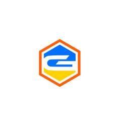 g letter hexa logo vector image