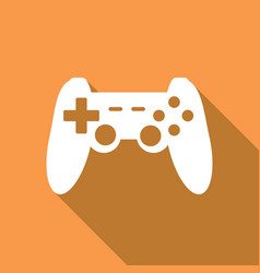 Game joypad icon with a long shadow vector