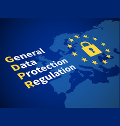 Gdpr general data protection regulation eu vector
