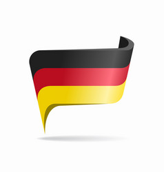 German flag map pointer layout vector