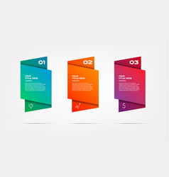 gradient infographics step by step element of vector image