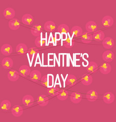 greeting card of happy valentines day vector image