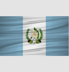 guatemala flag flag of guatemala blowig in the vector image