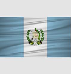 Guatemala flag flag of guatemala blowig in the vector