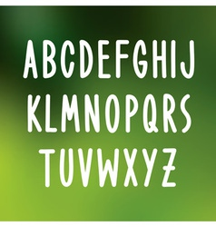 Hand drawn font type alphabet vector