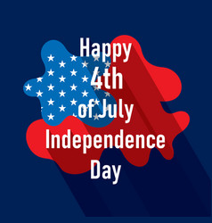 happy independence day of usa vector image