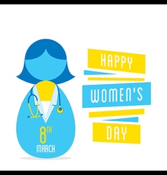 happy womens day women doctor profession design vector image