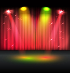 Illuminated stage template vector image