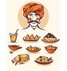 indian food vector image