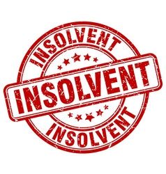 Insolvent stamp vector