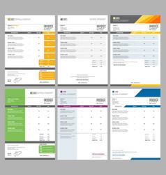 Invoice templates eform receipt money agreement vector