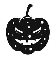Lantern pumpkin icon simple style vector