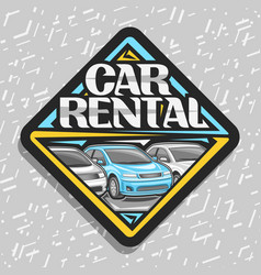 Logo for car rental vector