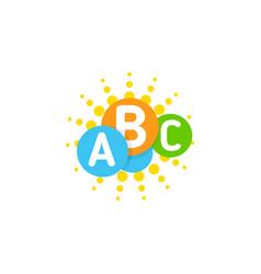 logo template with idea colorful brain sun vector image