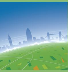 London skyline aerial view vector