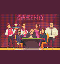 luxury casino indoor background vector image