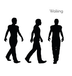 man in Walking pose on white background vector image
