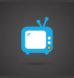 Media icon - tv vector