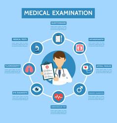medical examination infographic concept medicine vector image