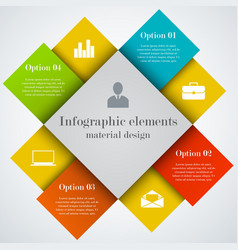Modern infographic square elements vector image