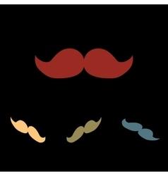 Moustache icon set vector image