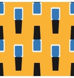 Nail polish seamless pattern 5 vector image