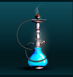 On a dark background a hookah vector
