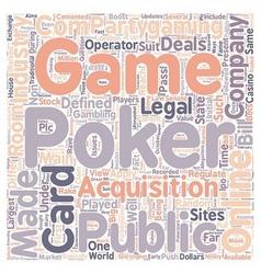 Online poker3 text background wordcloud concept vector