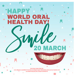 oral health day vector image