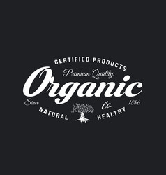 Organic natural and healthy farm fresh food retro vector