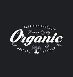 Organic natural and healthy farm fresh food retro vector