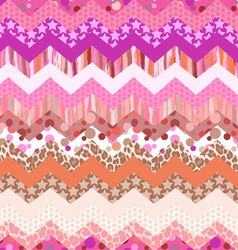 pink zigzag seamless vector image