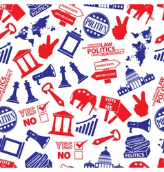 politics red and blue seamless pattern eps10 vector image