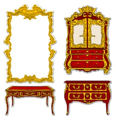 rococo furniture vector image