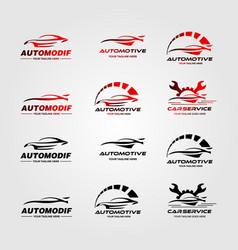 Set car automotive logo design vector