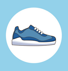 Sneaker shoe sport icon vector