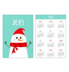 snowman wearing red santa claus hat and scarf vector image