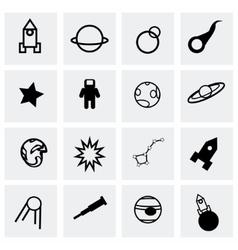 Space icon set vector image