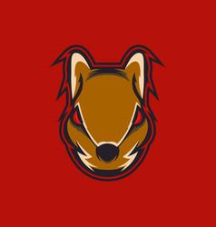 Squirrel head mascot vector