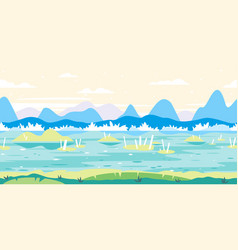 swamp game background flat landscape vector image