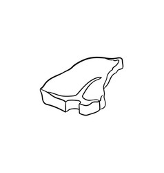 T-bone beef steak hand drawn sketch icon vector