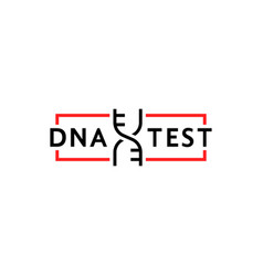 thin line dna test simple logo vector image
