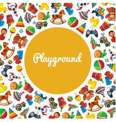Toys playground teddy bear tipper pyramid tumbler vector