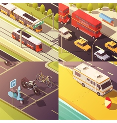 Transport Concept Icons Set vector