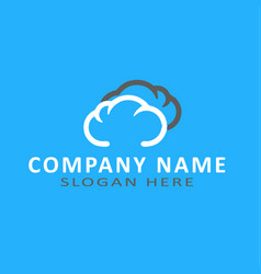 Unique weather cloud logo design template vector
