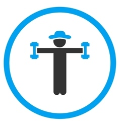 User Fitness Circled Icon vector
